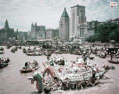1948, a dragon boat race on Shanghai's Huangpu River. Shanghai. The beginnings…