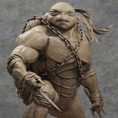 """My Statue TMNT """"Raphael"""" , Farmypoko 3D on ArtStation at https://www.artstation.com/artwork/g3eQL"""