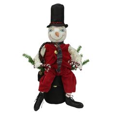16' Gathered Traditions Monty the Snowwoman Decorative Christmas Figure * Read more reviews of the product by visiting the link on the image. (This is an affiliate link) #HomeDecor