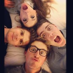 Alfie, Marcus, Zoella, and Jim! <3 just 4 of my favorite YouTubers right here...