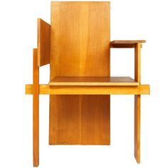 Chair by Gerrit Rietveld - Beautiful, though doesn't look very comfortable