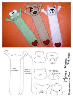 felt bookmark patterns