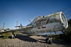 Military Aircraft Graveyard at Burgas Airport in Bulgaria