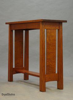 Mackintosh Sofa Table 2013 by DryadStudios on deviantART Craftsman Style Furniture, Real Wood Furniture, Mission Style Furniture, Shaker Furniture, Simple Furniture, Primitive Furniture, Diy Furniture Plans, Fine Furniture, Furniture Making