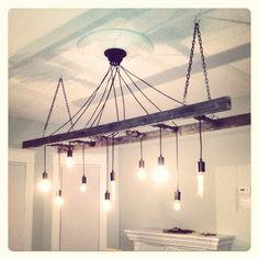 industrial style chandeleier diy - Cerca con Google