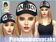 4 baseball caps at Pink Zombie Cupcake via Sims 4 Updates