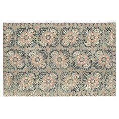 Kaleen Montage Floral Tile Wool Rug,