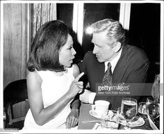 Diahann Carroll with Lloyd Bridges at the opening nite party for the cast of the new Broadway show Rosencrantz and Guild-Enstern are dead at the top of the six& August (Photo by Jerry. Diane Carroll, Lloyd Bridges, August 17, Broadway Shows, It Cast, Stylish, Party, Top, Parties