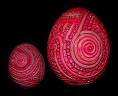 polymer clay covered eggs .... one of my favorite Easter crafts killlianpgg
