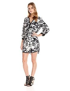 Parker #Womens #Mallory Printed #LongSleeve Fiori #TunicDress #Black #Floral #Parker @parkernewyork #Silk #Tunics #White #WTS #WhoTopsSyle
