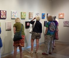 """SDA Members view """"Connections"""" exhibition during gallery tour. Photo courtesy SAY Si Gallery"""