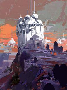 cite des domes, sparth . on ArtStation at https://www.artstation.com/artwork/xyzm4