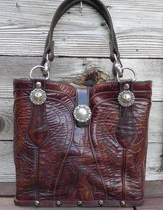 Classic San Antonio Brown Leather Lucchese Double Barrel Boot Purse Handbag. $275.00, via Etsy. tina and tom ellis