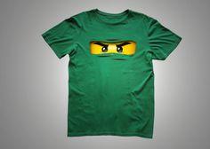 Ninjago Iron on eyes can apply to any color item.  Tee shirt, bag, sweats etc.