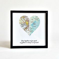 Personalized Map Heart / Long Distance Map / by salvagedstudiomke