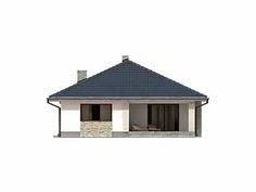 Aster idealny parterowy dom z tarasem dla 4-osobowej rodziny - Jesteśmy AUTOREM - DOMY w Stylu My House Plans, Bungalow, Gazebo, Outdoor Structures, How To Plan, House Styles, Design, Home Decor, Houses