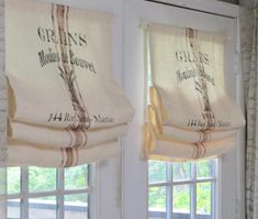 Grains French Theme Print Burlap French Door Panel and Valance, Ivory French Door Windows, French Door Curtains, French Doors Patio, Door Panel Curtains, Curtain For Door Window, Bay Windows, Window Seats, French Door Decor, Window Panels