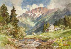 Edward Harrison Compton: Im Riesengrund, Riesengebirge / Schneekoppe; Aquarell…