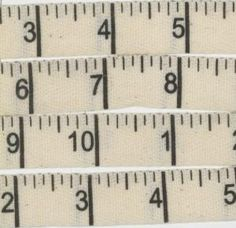 cotton measuring tape trim