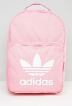 adidas Originals Backpack Trefoil Logo In Pink a7d6a07d2ac1b