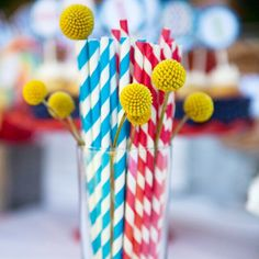 """""""I can't wait for the 4th of July! Some fun festive straws from a bouncing ball 1st birthday party we planned for an adorable boy. Photo by @jenfrase. #straws #patriotic #holidayweekend #birthdayparty #redwhiteandblue #craspedia #billyballs #chevron #stripes"""" Photo taken by @amynicholsse on Instagram, pinned via the InstaPin iOS App! http://www.instapinapp.com (06/30/2015)"""