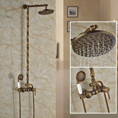 """Creative One Handle 8"""" Rain Top Showerhead Shower Complete Set Wall Mounted Outdoor Hot and Cold Mixer Taps #Affiliate"""