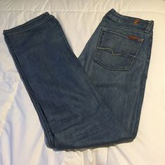 NEW 7 for all mankind Jeans Great condition - no real sign of wear - no scruff at bottom of jean legs - no stains - perfect condition! 7 for all Mankind Pants