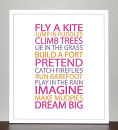 Prints for kids Inspiration quote prints for by CreativeWildChild, $20.00