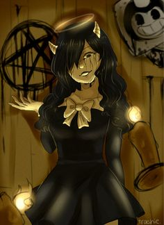 Alice Angel is crazy but cool😎 Tatuaje Rick And Morty, Fnaf Jumpscares, Batman Drawing, Alice Angel, Angel Wallpaper, Just Ink, Muse Art, Gothic Anime, Bendy And The Ink Machine