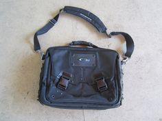 d89bb5a52a7 Oakley Tactical Laptop Messenger Bag Black Tough Carrying Case