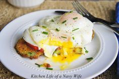 The Kitchen Life of a Navy Wife: Panko Zucchini and Fried Egg Stacker