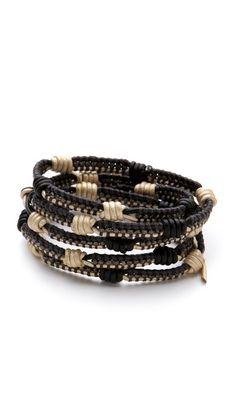 Chan Luu Black & Natural Wrap Bracelet | SHOPBOP