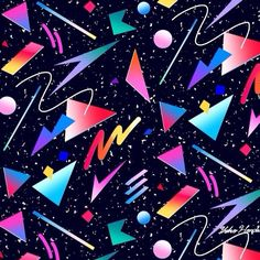 90s trapper keeper pattern design