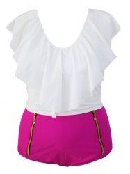 SHARE & Get it FREE | Trendy Ruffle Crop Top and High Waisted Boxers Briefs…