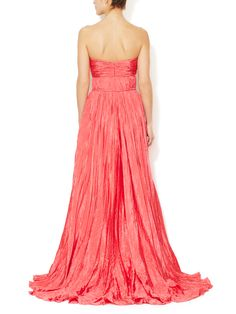 Pleated Sweetheart Gown by Oscar de la Renta at Gilt