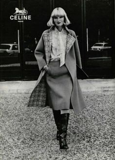Céline – Let`s talk about fashion 70s Women Fashion, 70s Vintage Fashion, Seventies Fashion, Fashion History, Fashion Brands, Vintage Outfits, Celine, French Luxury Brands, Pantalon Large