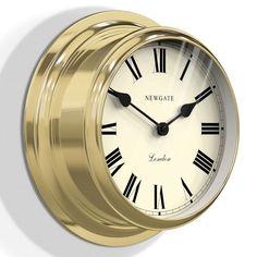Newgate Ocean Wall Clock - Brass - metal ship clock