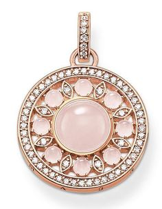 Thomas Sabo Pendant Glam & Soul Ornament Rose Gold   C W Sellors Fine Jewellery and Luxury Watches