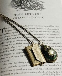 Customizable Harry Potter Owl Post Necklace, Brass Owl Post Necklace with Custom Letter, Harry Potter Gift Proposal, Harry Potter Jewelry on Etsy, $30.00