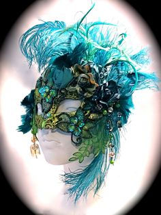 Mademoiselle Joules Venetian Masquerade Mask Art by Marcellefinery