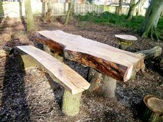 If you want to give your garden a timeless look we gathered some inspirational photos of truly amazing rustic furniture, that will impress everyone. Pallet Garden Furniture, Tree Furniture, Unique Furniture, Rustic Furniture, Urban Furniture, Outdoor Furniture, Paint Furniture, Contemporary Furniture, Furniture Design