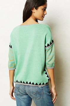 Anthopologie Shimmered Swing Sweater
