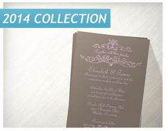 Pink And Brown Simple Luxury Wedding Invitations