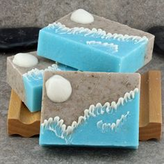 Handcrafted Decorative Soap - A Day at the Beach, Surf and Shore – Alaiyna B. Bath and Body