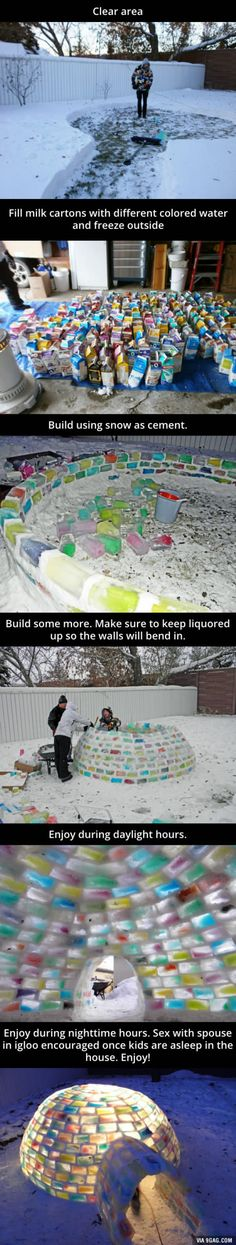 Try making this awesome igloo!