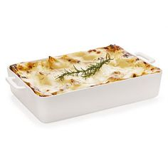 Maxwell Williams White Basics Chef Du Monde Lasagne from Sands Cookware Bakeware, Casserole Dishes, Cookware, Macaroni And Cheese, Sweet Home, Favorite Recipes, Meals, Dinner, Ethnic Recipes