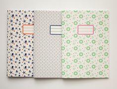 Assortiment personnalisé de 3 cahiers A5 - 10 motifs disponibles. €18,00, via Etsy.