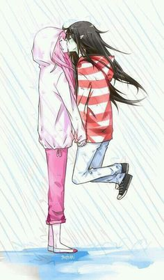 .bubblegum and marceline: #adventuretime #yuri