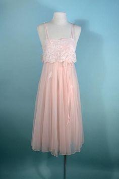 Lady Leonora Pink Lace Double Chiffon Nightgown 178dbbc3f