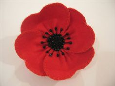 10 Poppy Crafts for Remembrance Day or Veteran's Day; great poppy crafts for…